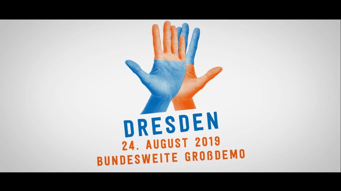 Bundesweite #unteilbar Demo in Dresden