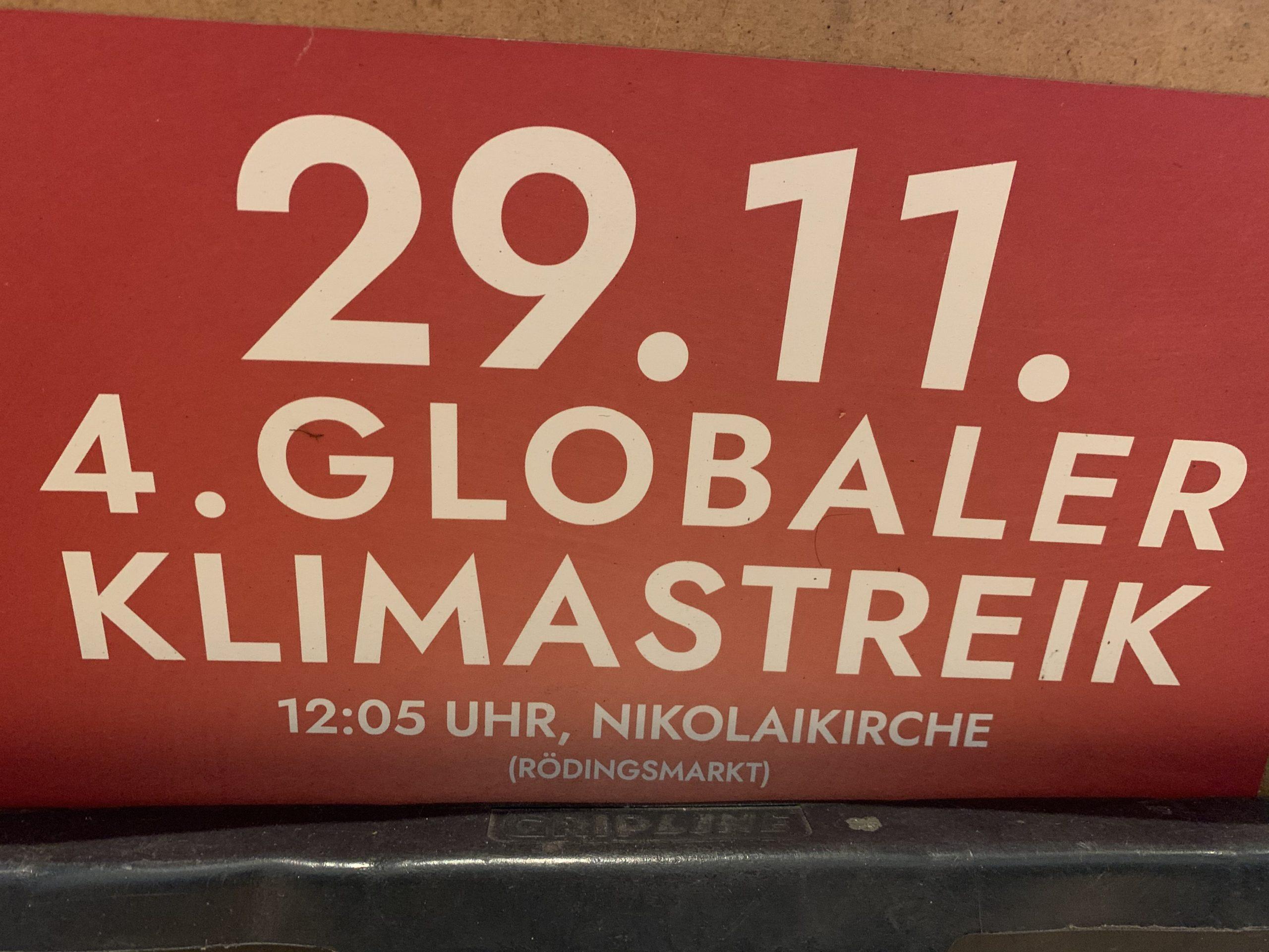 Klimastreik am 29. November