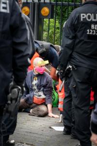 Blockade und Lock-on Verkehrsministerium