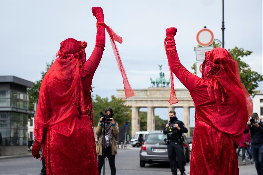 Blockade Bundestag, Kronprinzenbrücke / Rechte: XR Deutschland